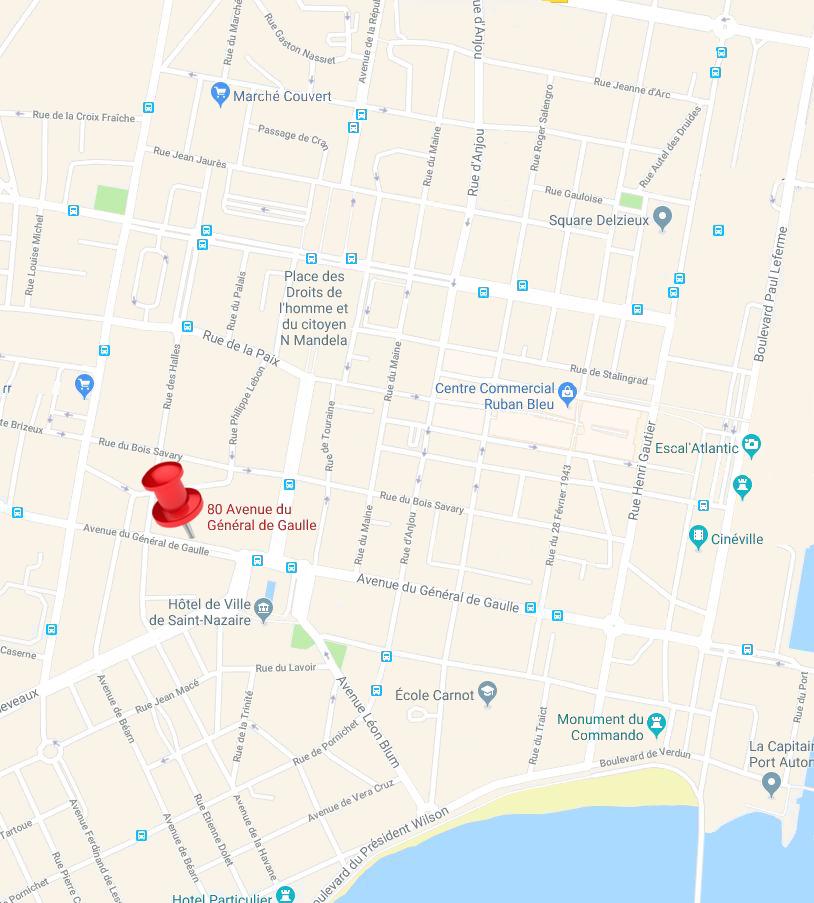 plan d'accès à la MDA de Nantes